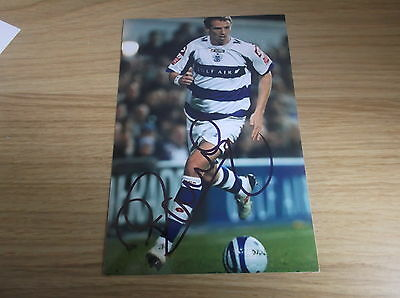 Queens park rangers fc Peter ramage signed 6x4 action photo