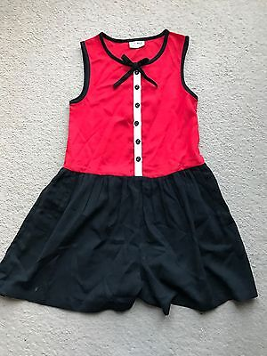 Girls Black And Red Next Play suit. Age 9