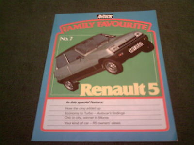 May 1982 RENAULT 5 AUTOCAR Magazine FAMILY FAVOURITE REPRINT UK 12 PAGE BROCHURE