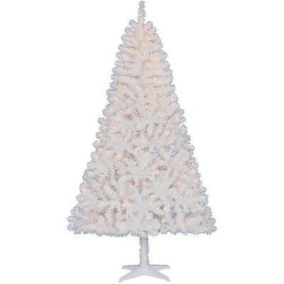 Madison 6.5' TG66EH148C04 Christmas Tree White  Pre Lit With 44 Gold Ornaments