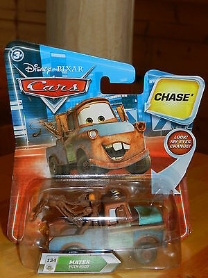 Disney Pixar Cars Final Lap Lenticular #134 Mater With Hood Chase Diecast 2010