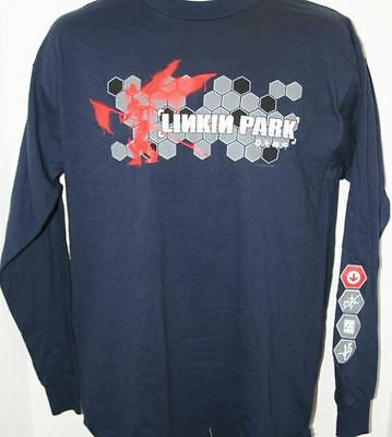 Linkin Park- NEW Symbols LONG SLEEVE NAVY Shirt-2XLarge SALE FREE SHIP TO U.S.!