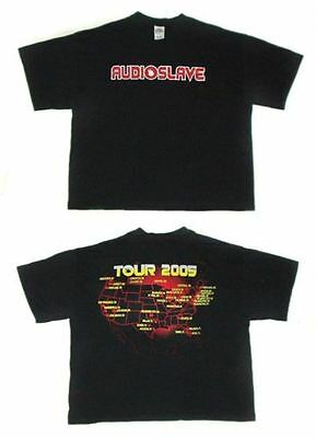Audioslave- NEW 2005 Concert Tour T Shirt- 2XLarge SALE FREE SHIPPING TO U.S.!