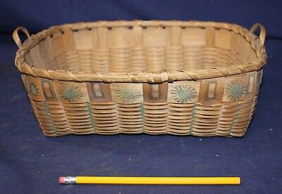 Antique Hand Woven Indian Basket Navajo? 90+ yr Old