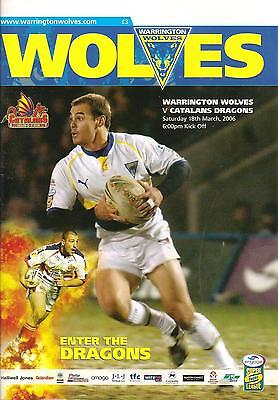 Warrington v Catalans - Super League - 2006