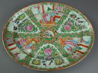 ANTIQUE 19th CENTURY CHINESE ROSE MEDALLION PLATTER