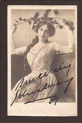 Theatre. Miss Edna May. Autograph. Ink-Signed RP. 1907.