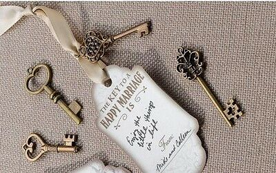 80  skeleton keys old look antique crafts steampunk weddings 3 colors 3 styles