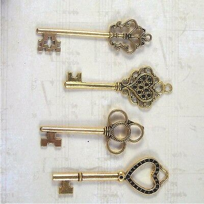 New old look keys 20  parties jewelry crafts steampunk weddings necklace heart