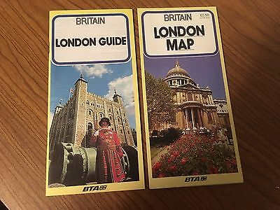 Britain London England Map & Guide 1986, Excellent condition