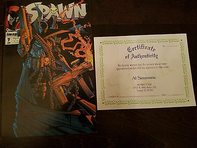 Spawn Autographed Comic Book Mint Condition