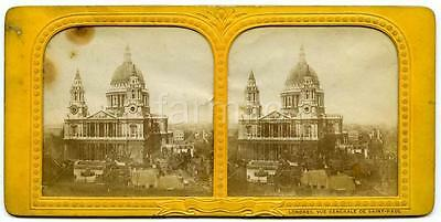 London: St Pauls Cathedral & surrondings, tissue day / night view