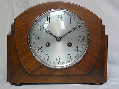 Vintage Deco Mantel Clock, Working Movement