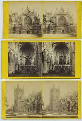 Devon: Exeter Cathedral, 3 views by 3 different photographers