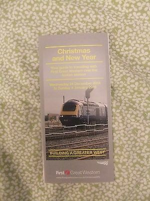 British Railways First Great Western Christmas New Year Engineering Work 2014-5