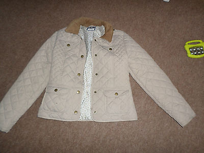 Girls Fawn Quilted Jacket With Front Popper Fastening-From J Jeans Age 11-12 Yrs
