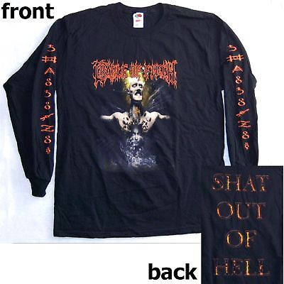 Cradle Of Filth! Shat Out Of Hell Blk Long Sleeve L/s Shirt Large New
