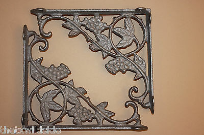 (4),grape, Leaf,corbels, Shelf Brackets,wall Brackets,country Decor, B-12