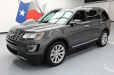 2016 Ford Explorer Limited Sport Utility 4-Door 2016 FORD EXPLORER LIMITED AWD NAV 3RD ROW 20'S 15K MI #B96533 Texas Direct Auto