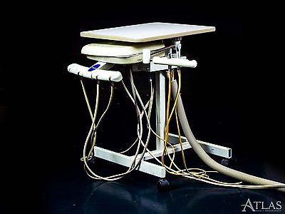 Proma Doctor & Assistant Portable Dental Delivery Cart w/ 2 5-Hole Connections