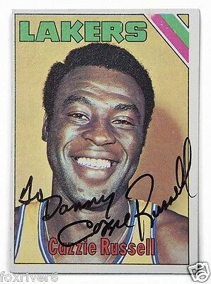 CAZZIE RUSSELL Signed Photograph / Card - NBA Basketball Player / LA Lakers