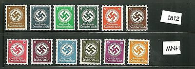 Mint stamp set  /  Third Reich Issues / Nazi Swastika / All stamps are MNH