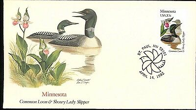 MINNESOTA 1982 State Birds & Flowers Fleetwood Cachet State cancel FDC