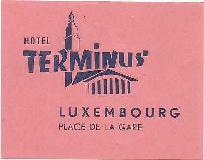 HOTEL TERMINUS luggage label (LUXEMBOURG)