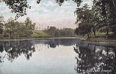 a northern ireland postcard ulster irish co. armagh folly lake