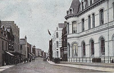 a northern ireland postcard ulster irish co. antrim main street portrush