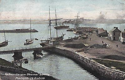 a northern ireland postcard ulster irish co. antrim portrush steamer leaving