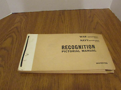 Vintage 1943 Wwii Recognition Pictorial Manual Fm 30-30