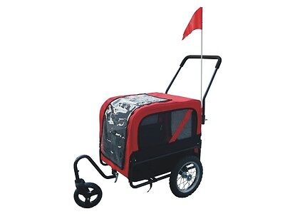 #b Dog Bike Bicycle Trailer Storller Jogger Outdoor Black And Red