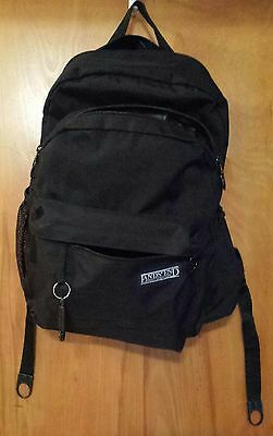 Land's End diaper bag/backpack. Black w/ accessories