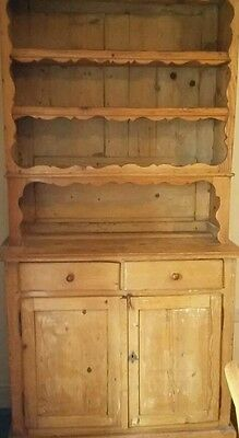 Vintage Rustic Solid Pine Dresser ( French) - Paris. REDUCED !!!!!