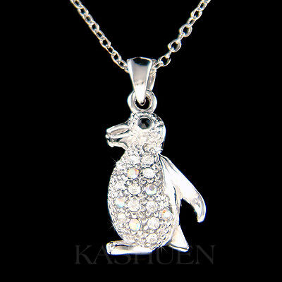 ~Penguin made with Swarovski Crystal Antarctica Family Vacation Jewelry Necklace