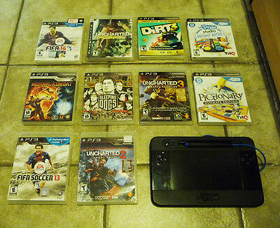 Sony Playstation 3 PS3 10 GAMES + UDraw tablet