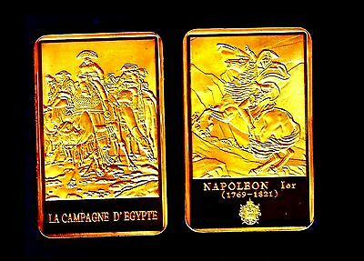 ● Gold Plated Bar ● France ● Napoleon On A Camel In Egypt ●