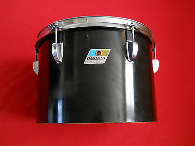 "Vintage 1970s Ludwig 13"" Black Cortex 6-Ply Tom Drum"