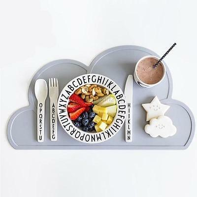 Baby Kids Dining Table Mat Pads Silicone Cloud Shape Food Mats Kitchen Placemat