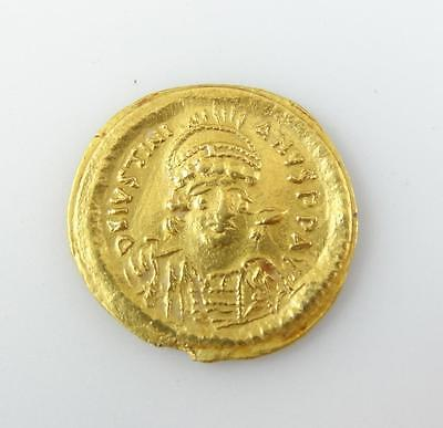 527-565 AD Gold Tremissis Constantinople Mint Gold Coin Jewelry Piece * S
