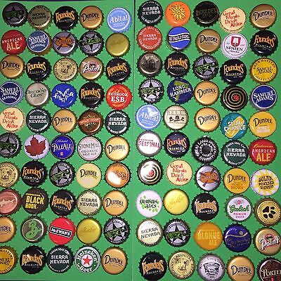 Lot 100 / Microbrewery beer bottle caps , crowns collection arts craft Microbrew