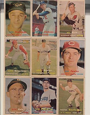 Topps 1957 Baseball Cards-Select from a list