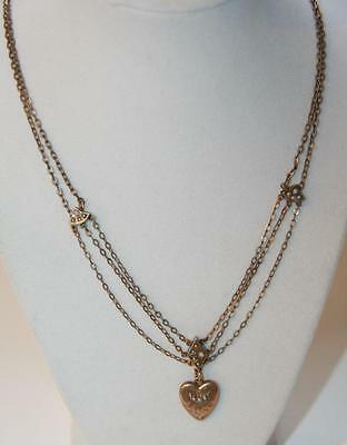Victorian Gold-filled Seed Pearls Puffy Heart Opals Slides Watch Chain Necklace