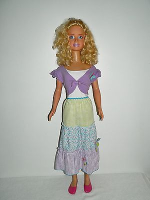 "Pretty Curly Blonde Mattel My Size 38"" Barbie Doll"