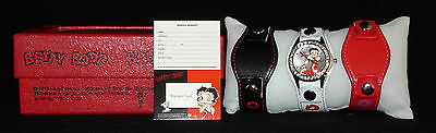 2013 Betty Boop Ladies Analog Quartz Watch King Features Syndicate w 3 Bands NIB