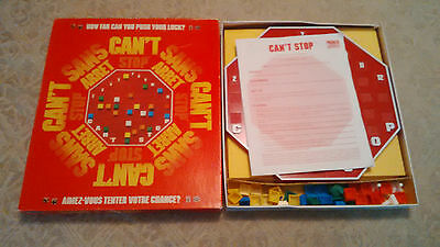 Can't Stop Board Game Parker Brothers 1980 100% Complete