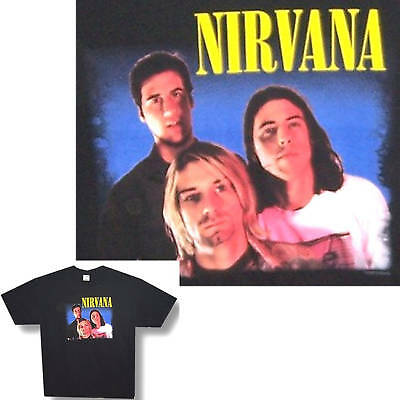 Nirvana! Color Band Pic Black Kids T-Shirt Youth Child Large New!