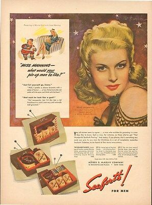 WWII Dec.6,1943 ad 1117 for Seaforth Toiletries for men Irene Manning - ad only