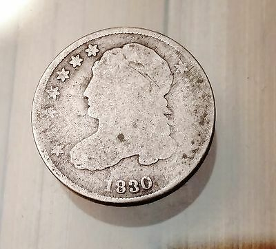 1830 Bust Dime, Nice Old Good Silver Coin